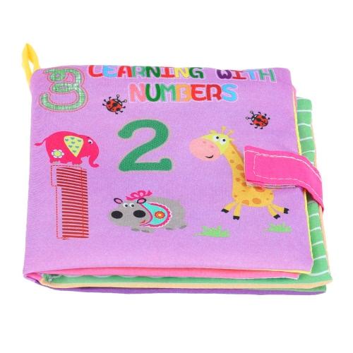 Crinkle Toy Rattle panno morbido primo tessuto lavabile Libro Libro Squeak di Coolplay bambino per bambino Infant apprendimento dei numeri