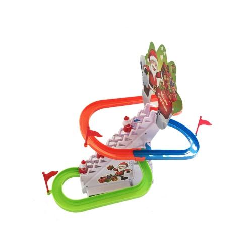 Natale Santa Arrampicata Scale Toy Track