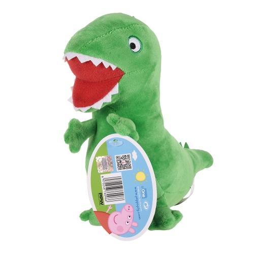 オリジナルブランドPeppa Pig 19cm George Dinosaurぬいぐるみぬいぐるみファミリーパーティードール子供のためのクリスマス新年の贈り物
