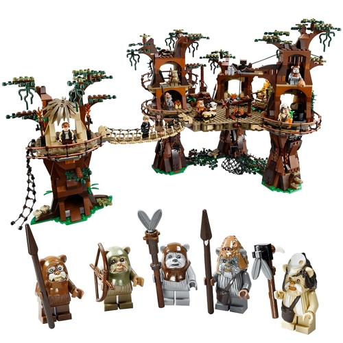 Caja Original LEPIN 05047 1990pcs Star Wars Ewok Village Building Set Kit de bloques de construcción