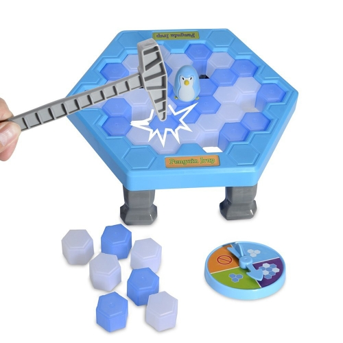Penguin Trap Puzzle Crashed Ice Table Games Save Penguin Knock Ice Block Desktop Toys Interactive Game