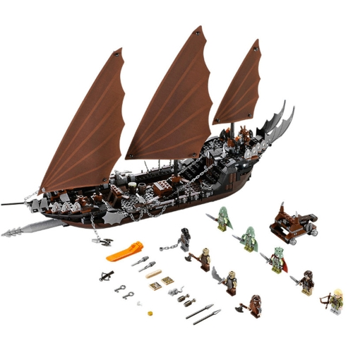 LEPIN 16018 756pcs Movie Series Władca Pierścieni Pirate Ship Ambush Model Klocki Zestaw klocków - Plastikowa torba w opakowaniu