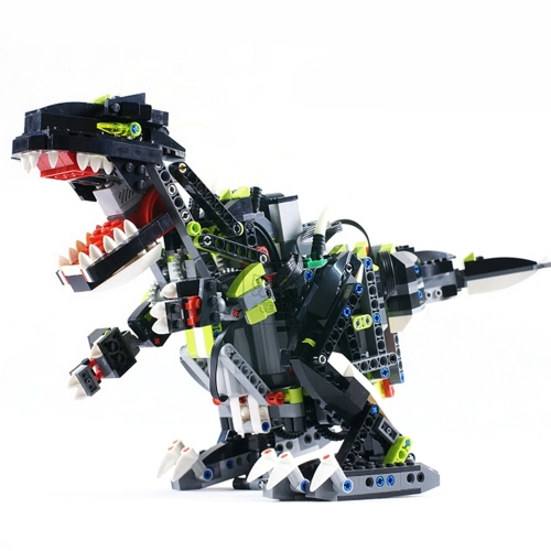 LEPIN 24010 792pcs Technic Series Creator Monster Dino 3 in 1 Dinosauro Telecomando Sound Function Modello Building Blocks Kit di mattoni - Sacchetto di plastica confezionato