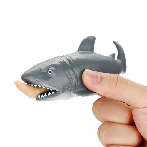 12cm Funny Toy Shark Squeeze Stress Relief Ball Alternative Humorous Light Hearted Decompression Toys Fun Joke Gift