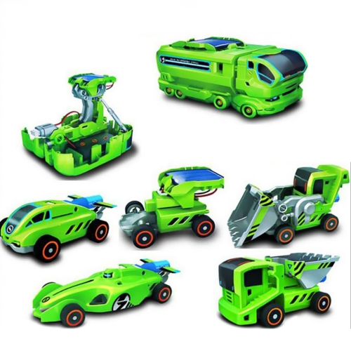 7 In 1 Edukacyjne zabawki Akumulator Energii słonecznej Montaż zestawu DIY Science Robot Car Kit Baby Kids Training Toys