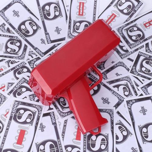 Lustiges Partei-Geschenk Bill Counting Machine Post-Geld-Gewehr mit Papier 100pcs