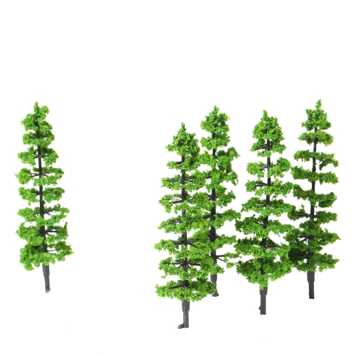 10 Pcs Model Fir Tree Plastic Miniature Landscape Scenery Train Railways Mini Layout Rainforest Trees Scale 1:100-1:150