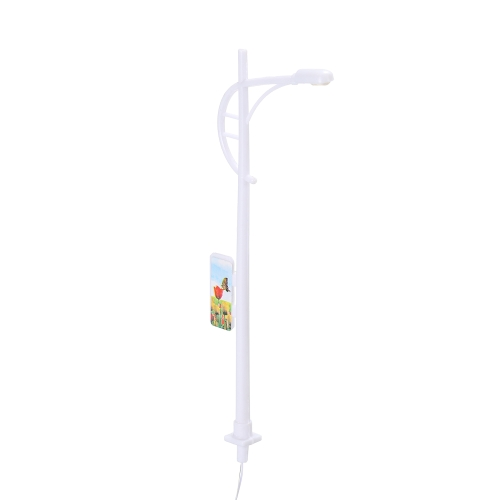 10cm White 1:100 Scale Single-End Model Lamppost Lamp for Train Scene Layout Pack of 20