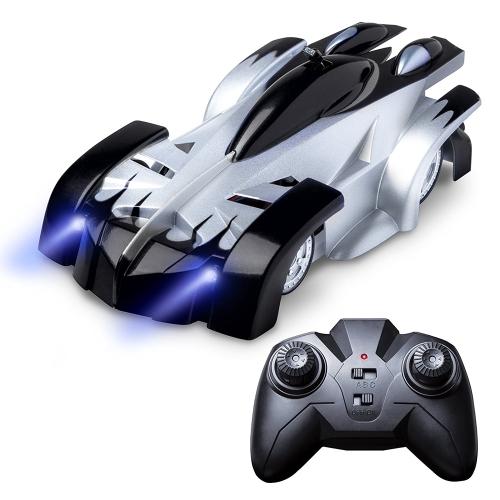 RC wspinaczka wyścigowa samochód Sport wspinacz z oświetleniem LED 360 ° obrotowe zabawki kaskaderskie Home Vehicle Mini Gravity Zdalnie sterowane samochody Electric Rocket Toy Xmas Gift Red