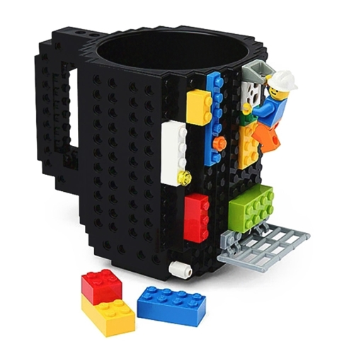 1 Piece Build A Brick Mug Building Blocks Coffee Cups Frozen DIY Gift