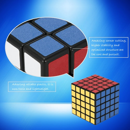 Original Shengshou 5 * 5 * 5 Magic Cube Speed Cube ABS Ultra-smooth Cubo Puzzle Matte Sticker Twist Educational Toy Black Ground