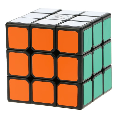 Dayan Zhanchi 3x3 Magic Cube Speed Cubo Anti-POP Structure 6 Color Solid Eco-friendly Plastics Cube Puzzle Black Ground 50 MM
