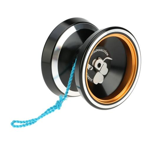 Profesjonalna magia Yoyo M001 Aluminiowa stopka Yo-yo Tokarka sterowana CNC T Łożyska z przędzarką dla chłopców Dziewczyny Dziewczyny Dzieci Dziecko Niebieskie