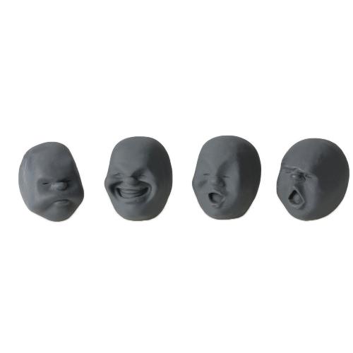 4個のクリエイティブな減圧プロップTPRの混乱ブロウニッシュの人間の顔の抗ストレスベントボールのリラクゼーションヘルパーのストレス圧力のおもちゃを減らす