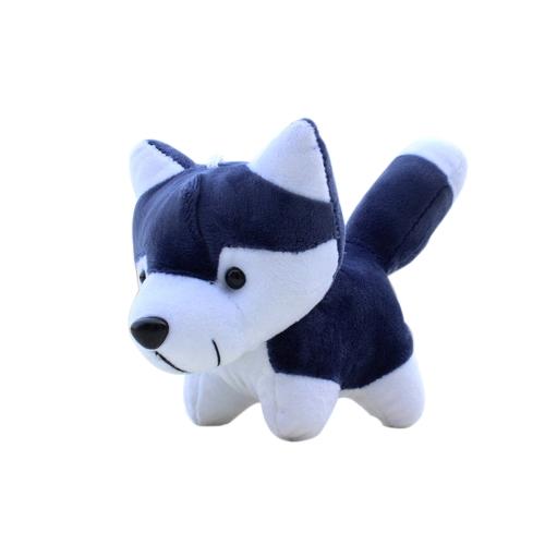 Super Cute Little Husky Dog Doll Toy Animals Cartoon Pluszowe zabawki dla chłopców i dziewcząt Prezent Urodziny Present Dark Blue