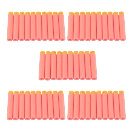 50pcs Z Head Refill Darts Hard Soft Tip Flat Soft Head Foam Bullets Pack for Nerf N-strike Elite Compatible Kids Toy Gun