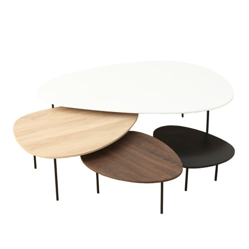 Ensemble de quatre tables basses gigognes - Scandinave