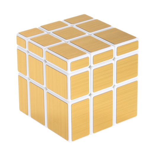 Original Shengshou 3 * 3 * 3 Mirror Magic Cube Cubo Wire Drawing Style Cast Coated Puzzle Speed Twist Educational   Toy Silver