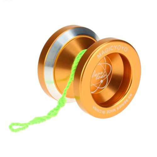 子供のためのゴールドスピニング文字列でベアリングプロフェッショナルマジックヨーヨーN8アルミ合金メタルヨーヨー8ボールKK