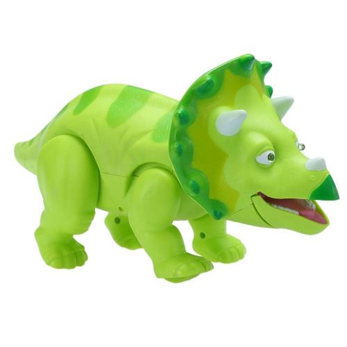 かわいい漫画の恐竜電気恐竜の音とライトアップ玩具図&レアルムーブメント&LEDグリーンウォーキング