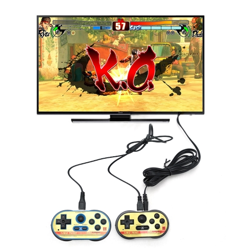 Video Game Console 8 Bit Retro Handheld Game Player Double Player Built-in 260 Classic Games Gift for Kids