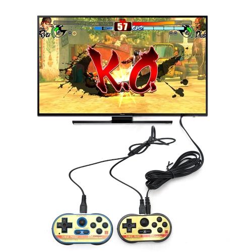 Consola de videojuegos Reproductor portátil de 8 bits Reproductor doble Reproductor incorporado 260 Juegos clásicos Regalo para niños