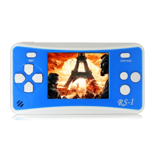 Portable Video Game Console 8 Bit Retro Handheld Game Player Built-in 152 Classic Games - Blue