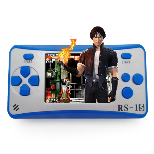 Portable Game Console 8 Bit Retro Handheld Game Player Built-in 168 Classic Games - Blue