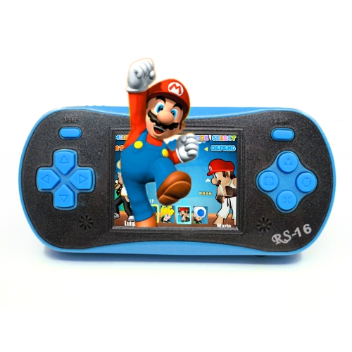 Portable Video Game Console 8 Bit Retro Handheld Game Player Built-in 260 Classic Games - Blue