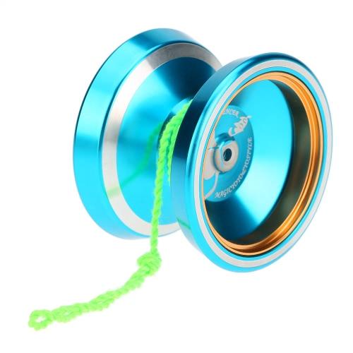 男の子女の子子供キッズ ブルーのプロフェッショナル マジック ヨーヨー M001 アルミニウム合金ヨーヨー CNC 旋盤 T 軸受回転文字列