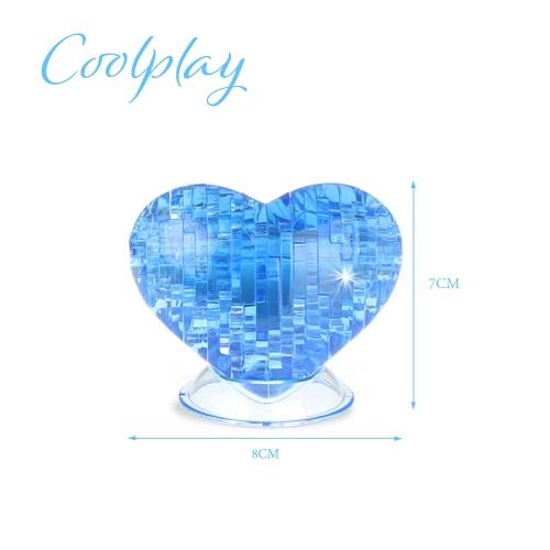 Coolplay 3DクリスタルパズルラブモデルキッズDIYビルのおもちゃを形