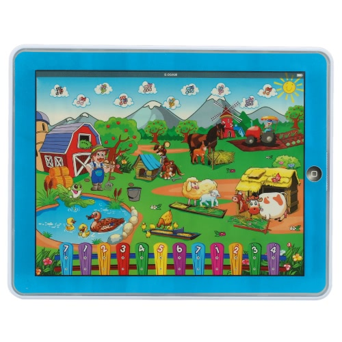 Y-Pad Touch Screen Pad Children's Funny Farm Tablet Machine Computer Laptop Educational Toy for Baby Kids