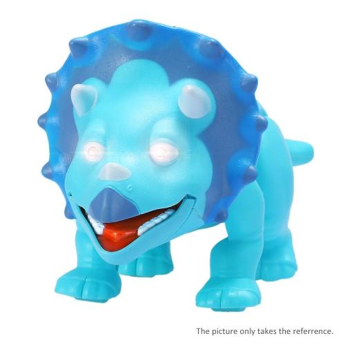 Симпатичный мультфильм Прогулки Динозавр Динозавр Electric Light Up Toy Рисунок с Звуки и реальное движение и синий светодиодный