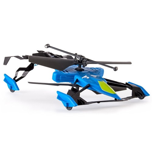 Helicopter Model Switchblade Aerodyne Ground and Air Race RC Heli Remote Control Aircraft with Gyro Car Toy for Kids New Year Christmas