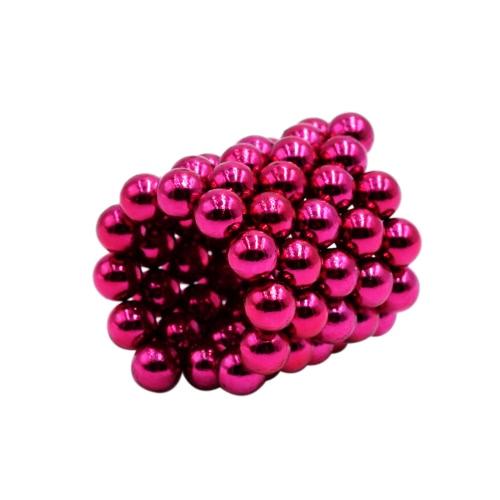 5 mm 64 Pieces Magnetic Beats Magic Balls Spheres DIY Crafts Puzzle Neodymium Iron Educational Toys Rose