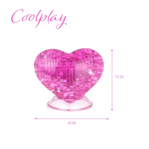 Coolplay 3D Crystal Puzzle Love Shaped Model Kids DIY Building Toy