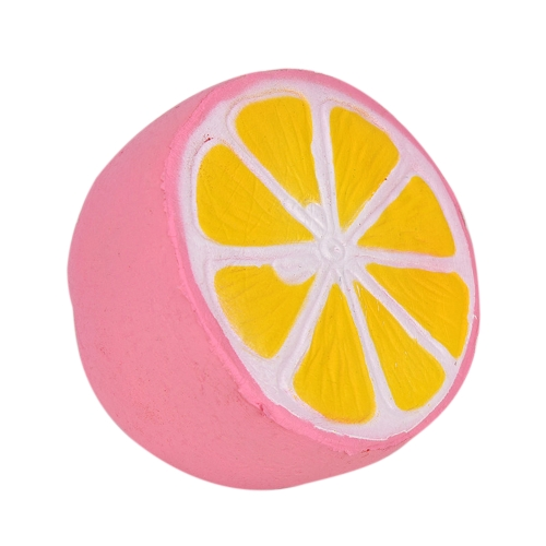 Squishy Lemon Super Slow Rising Decoration Fruit Charms Squeeze Toys Phone Strap Pendant Squishes Gift Stress Relief Toy Pink