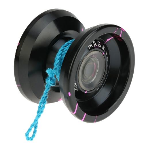 Profesjonalny Magic Yoyo K9 Król Metal Yoyo 8 Ball KK Łożyska z łańcuchem spinningowym dla dzieci Green & Silver
