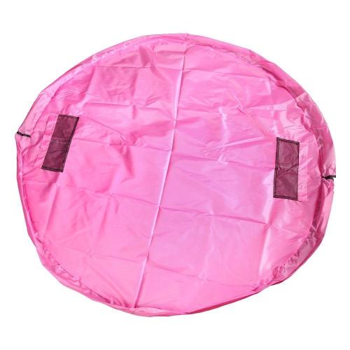 ポータブルキッズクイック&シンプルな玩具収納袋遊びマット玩具オーガナイザービンボックスファッション実用袋ピンク