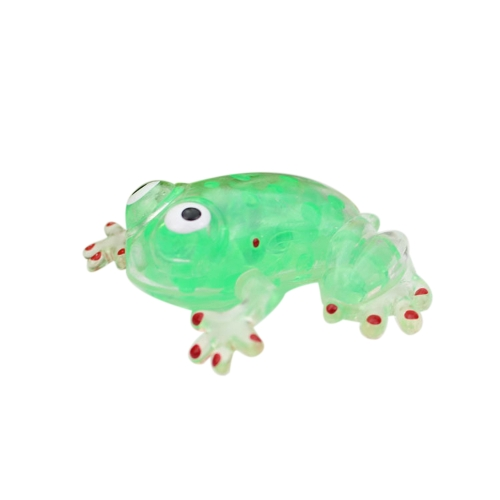 Funny Squeeze Stress Relief Frogs Novelty Bead Ball Sticky Squeezing Toy  for Kid Adult Gift Red