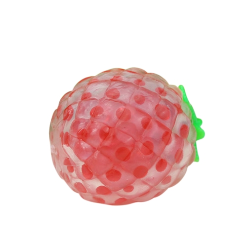 Squeeze Sticky Stress Toy Bead Ball Sticky Squeezing Ananas Reliever Red