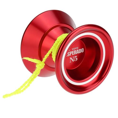 プロのマジック ヨーヨー N5 デスペラード アルミニウム合金金属ヨーヨー 8 ボールの子供紫の文字列を回転軸受 KK