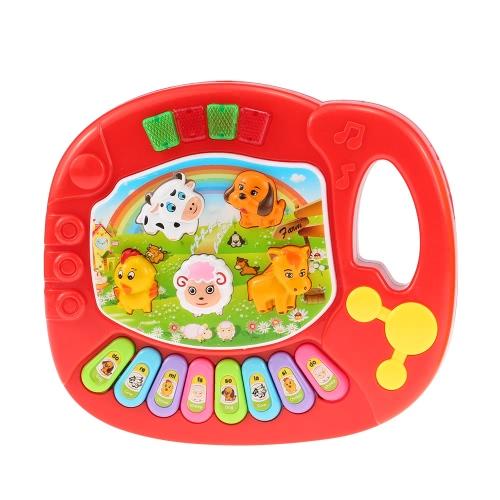 Coolplay Baby Kids Animal Farm Piano Electronic Keyboard Musical Educational Kids Toy Gift