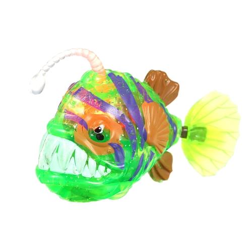 ロボットシャイニング魚水泳電気バッテリー駆動玩具子供のための水の茶色で遊ぶ子供たち