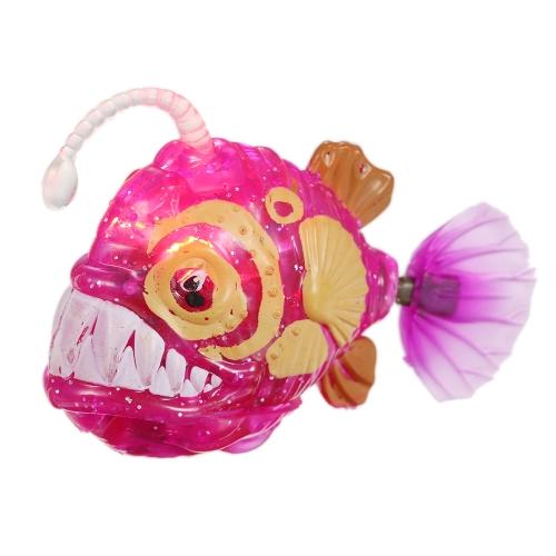 Roboter glänzende Fische schwimmen elektrische batteriebetriebene Spielzeug für Kinder Kinder spielen im Wasser braun