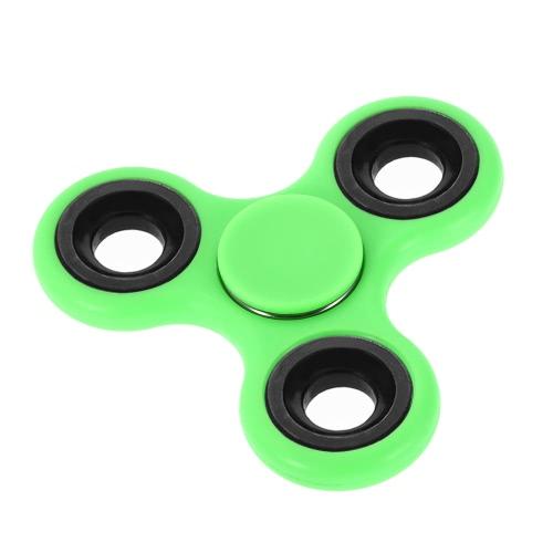 Fai da te Tri Fidget Spinner 360 ° mano Spinner Spinta Rotazione cuscinetto ibrido Spin Widget Focus giocattolo Nylon PA Materiale per ADHD Ansia Noia Adulti Bambini Tempo di uccisione Rosso