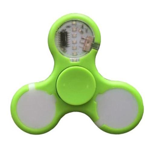 自閉症とADHDリリーフフォーカス不安ストレスのおもちゃのためのスイッチプラスチックEDCの手おもちゃとLEDライトスピナー