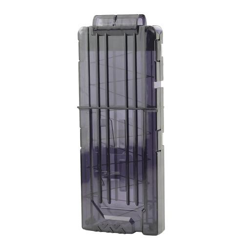 12クイックリロードクリップマガジン丸いダーツの交換プラスチック製のおもちゃの銃のキャリアソフトの弾丸忍者のNストライクカートリッジのためのトラフタントストレージクリップ