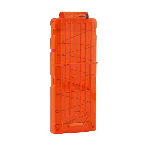 12 Quick Reload Clip Zeitschriften Runde Darts Ersatz Kunststoff Spielzeug Pistole Carrier Soft Bullet Trasparent Storage Clips für Nerf N-Strike Patrone