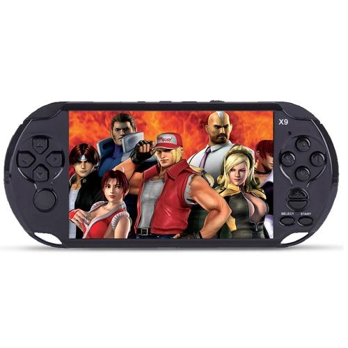 ハンドヘルドゲームコンソール8GB 5インチポケットプレーヤーゲーム350クラシックゲーム0.3MPカメラサポートAV出力ビデオ&音楽演奏